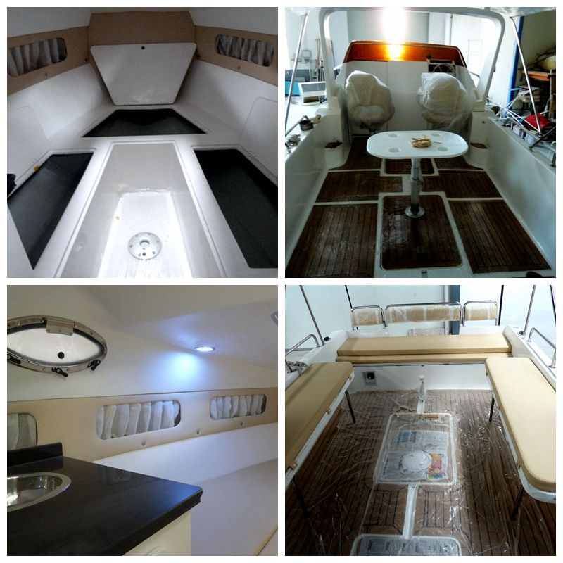 Waterwish Boat QD 25 CABIN Fiberglass fishing Boat For Sale