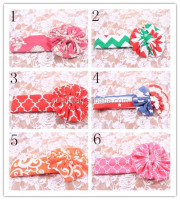 Top sale toddler girls knit cotton headbands girls hair bow accessories elastic headbands variouc kinds of handmade headbands
