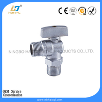 luxurious manual angle valves in chrome plated