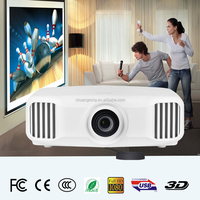 3LED + 3LCD Digital Home Theater Cinema Projector 1920*1200 with HDMI USB