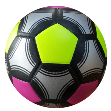 newest mixed color top quality cheap pvc Soccer ball size 5 laminated Football