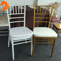 2015 high quality used usa style silver wooden chiavari chair