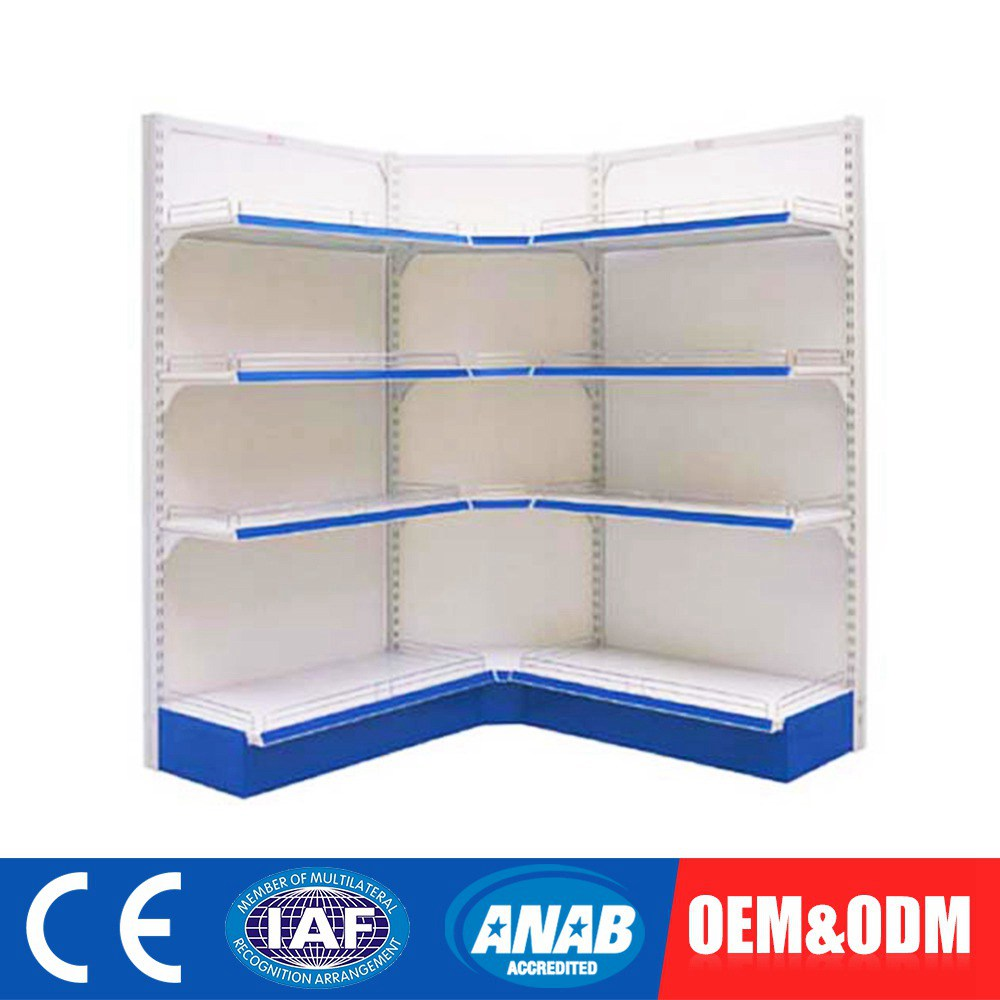 Customized OEM Supermarket Shelving Gondolas And Shelf Merchandise Rack For Sale Grocery