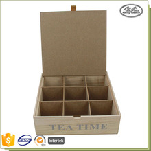Schabby Chic Style Tea Storage Box Wooden Compartment Boxes