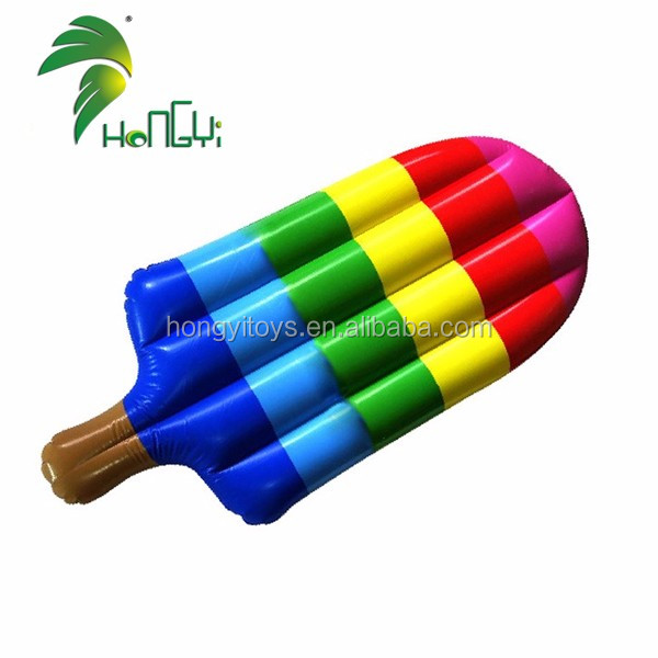 Floating PVC Air Mattress , Coloful Ice Cream Shaped Air Bed , Inflatable Ice Cream Air Sofa for Swimming Pool Toys