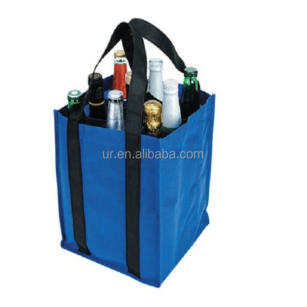 Waterproof Folding Market Tote bag Reuseable Grocery Shopping Bag for Wine