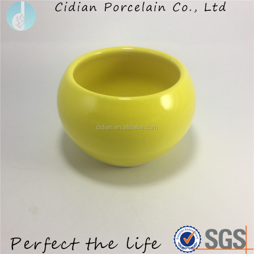 Small ceramic cheap ball shaped flower pots