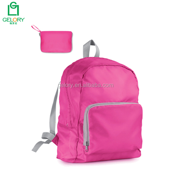 Custom nylon material travel hiking backpack style lightweight foldable sport bag
