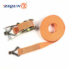 10M/12M Lashing Strap With Double Hook 5000kg yellow cloth ribbon nylon spinning fiber weaving quality is good