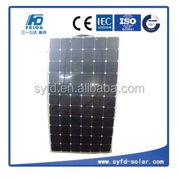 200w flexibel solar panel for RV cars or boats with light-weight