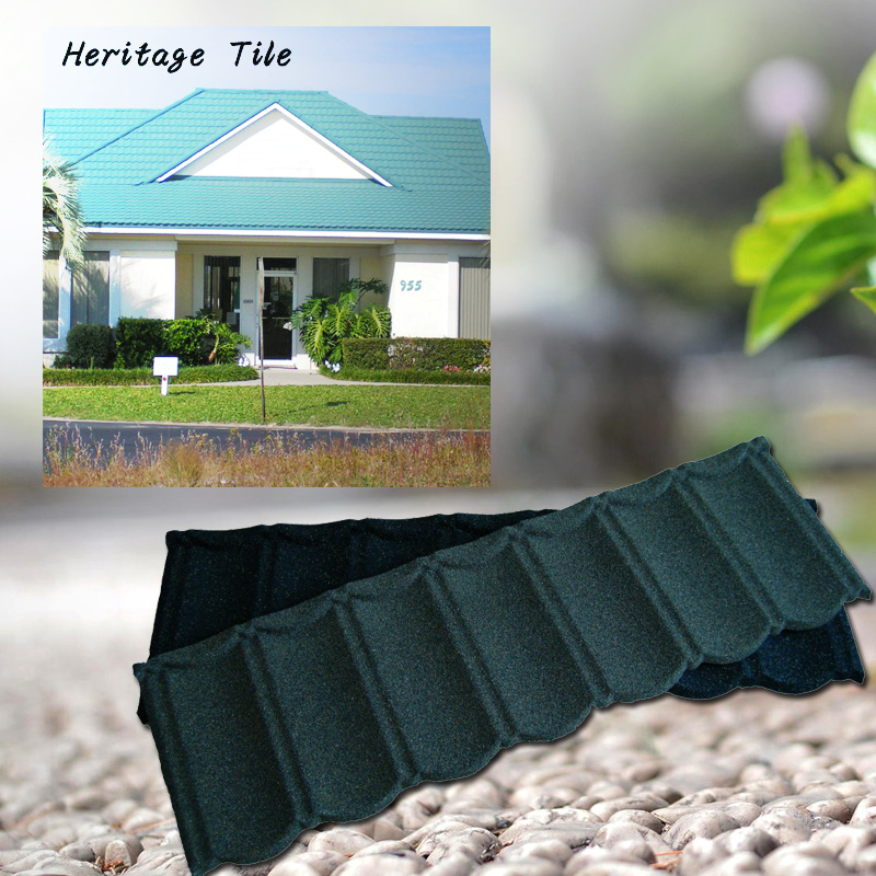 Fadeless color decorative metro stone coated metal roofing tile