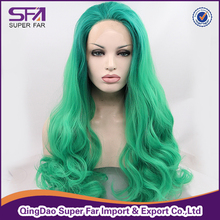 Hot wigs green ombre wig 150% density lace front wig