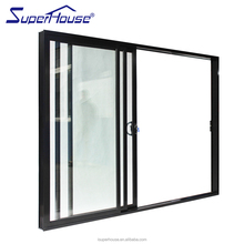 AS2047 standard anti noise glass sale cheap sliding doors with blinds between glass