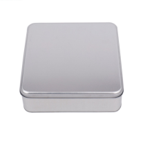 Promotion square metal tin box for cookie