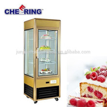 industrial aluminum outlook jewelry showcases/showcase jewelry cake display fridges