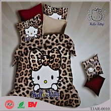 Factory direct price hello kitty 100% cotton bedding set