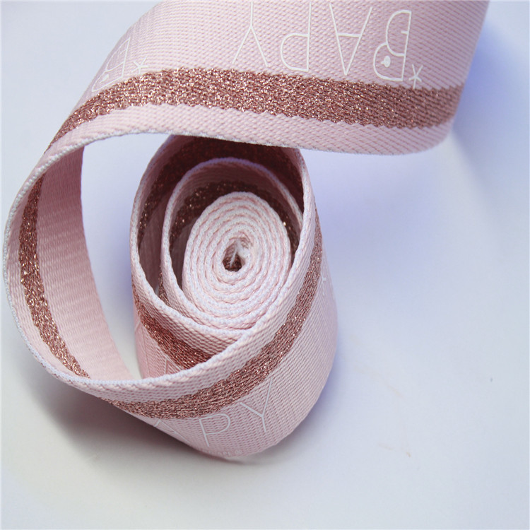 BSD High qulity wholesale cotton Jacquard webbing belt for bag straps