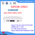 Optical Network Terminal Devices GPON ONT 4GE+2POTS+WiFi+CATV