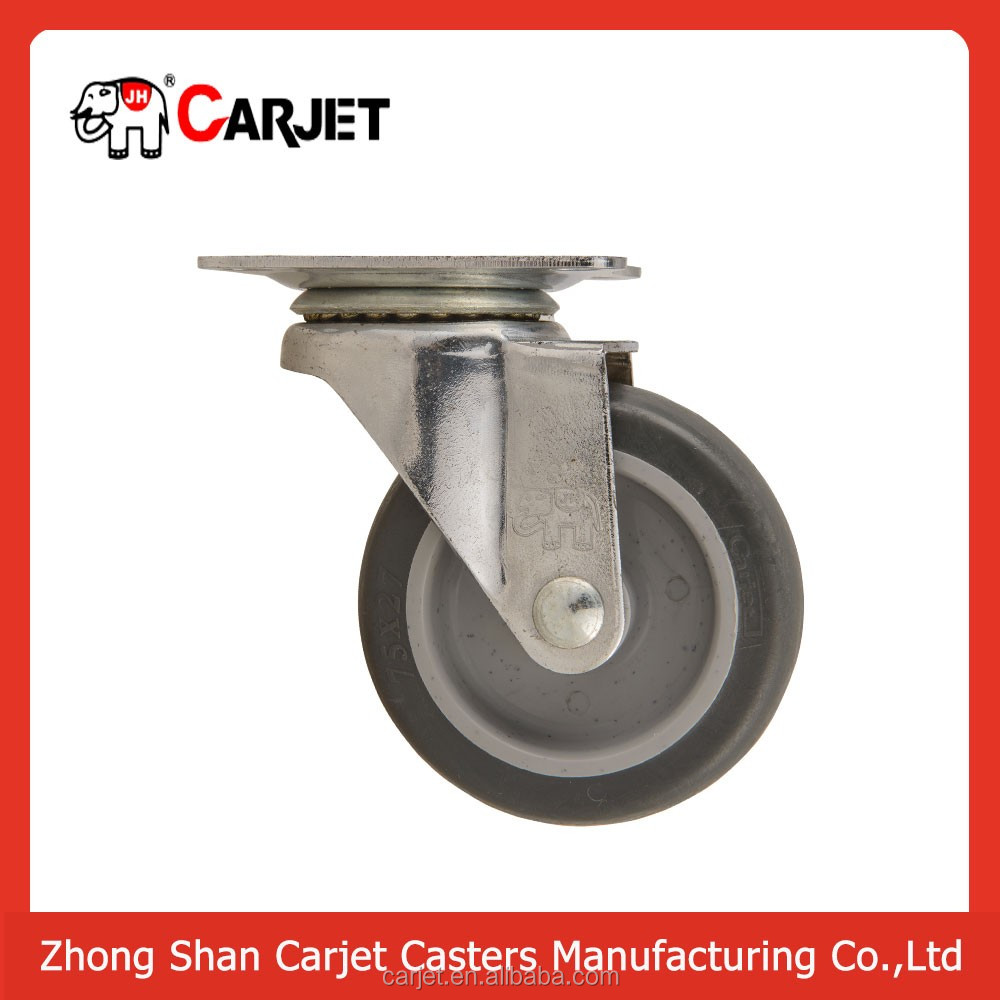 Synthetic plastic small rubber omni-directional wheel with bearings