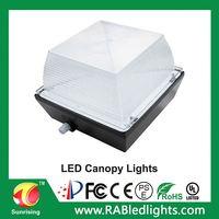 40W 60W Soft Light LED Garage Light, canopy light with Motion Sensor, 110~270V input
