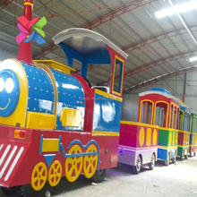 Small electric amusement park used trackless train for sale