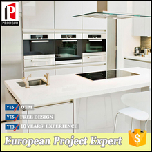 Modern modular high gloss FIBER GLASS kitchen cabinet designs