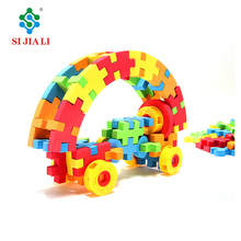 Non-toxic DIY small changeable soft EVA building blocks game toys set