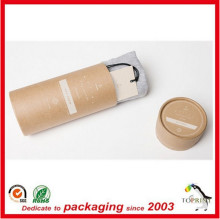 Wholesale round brown kraft paper tube box for clothes T shirt packaging