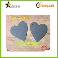 China gold suppliers custom logo printed grey heart-shaped costume jewellery price tags/jewellery tags