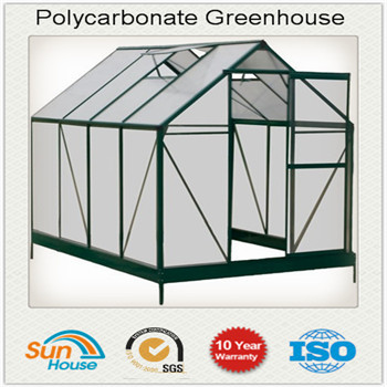 Sliding Door Polycarbonate Greenhouse