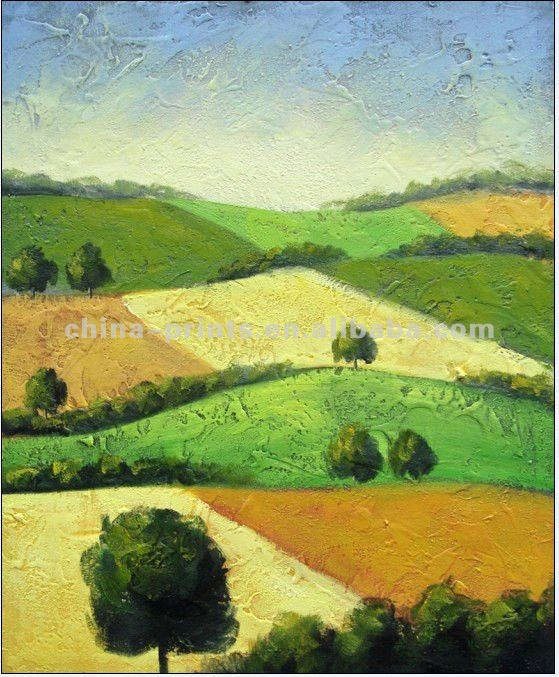Natural Scenery Handmade Oil Painting For Sale
