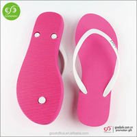Guangdong shoe manufacture custom colorful wedding flip flop for guests