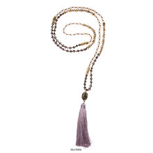 Handmade Tassel Bead Necklace With Crystal Jewelry Manufacturer Yiwu