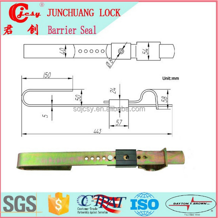 Security seal sealing trolley lock shipping container locks barrier seal lock