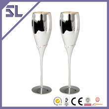 China Tableware Drinking Water glass Silver Drinking Glass With Entire Spotless Silver Plating Made in China