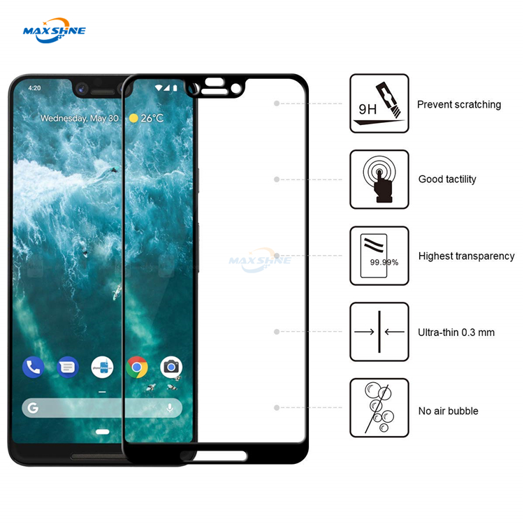 Maxshine Shatterproof Glass Film For Pixel 3 Xl Screen Protector 9H Tempered Glass
