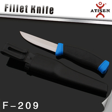 Wahoo Killer Fish Fillet Fishing Camping Skinning Hunting Knife + ABS Sheath