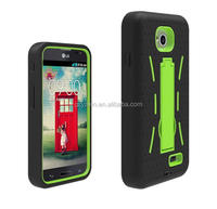 Multi-color hard plastic hybrid phone cover for LG optimus L70 silicon / soft mobile cover for LG optimus L70 kickstand case