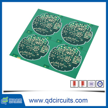 Non-conductive via plugging FR4 Tg135 green skip V-groove rogers pcb sample