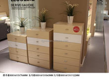 2014 living room storage cabinet is made by solid wood particle board with Melamine