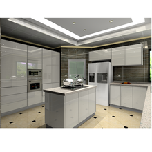 high gloss white lacquer modern kitchen designs