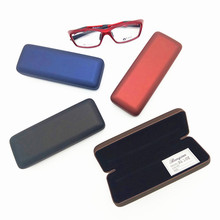 Good quality optical glass case metal hard leather optical eye glasses case/spectacle case BENQIAN BQ2078