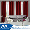 American hot sales modern style 4pcs solid faux silk hotel window curtain