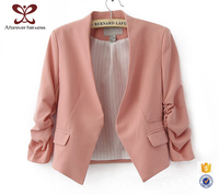 Popular Fashion 7 Minutes Of Sleeve Cardigan OL Drape Jacket Ladies Formal Sex Blazer,Blazer For Women