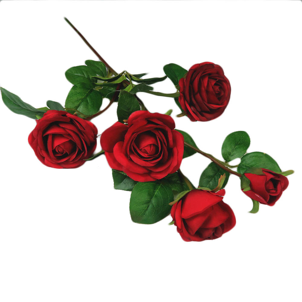 Decorative Flowers for Valentine's Day Occasion Artificial Rose Stem