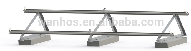 Solar mounting structure system for Flat roof solar bracket solutions