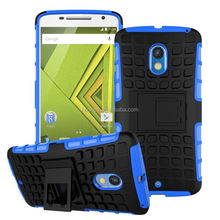 Mobile accessories 2 In 1 Pattern Silicone and PC Rugged Hybrid cool hybrid phone case for motorola moto x play china suppliers