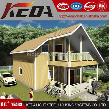 Prefab Mountain Home Two Storey Villa Prebuilt in Foshan KDV210