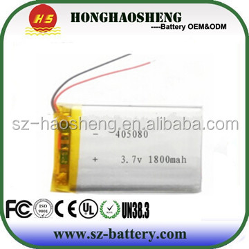 5v Lipo Battery 405080 1800mAh for Portable Charger