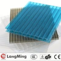 China supplier roofing 6mm twin wall polycarbonate roofing panels